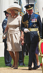 Prince of Wales and Duchess of Cornwall at the unveiling of the Bomber Command Memorial in Green Park, London,  Thursday 28th June 2012 Photo by: Stephen Lock / i-Images