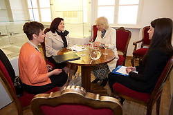 15.03.2016, Osijek, CRO, der Britische Kronprinz Charles und seine Frau Camilla besuchen Kroatien, im Bild Camilla, the Duchess of Cornwall will attend a meeting with local mentors and practitioners on preventing sexual violence that will be held at Archeological museum. EXPA Pictures © 2016, PhotoCredit: EXPA/ Pixsell/ Vlado Kos<br /> <br /> *****ATTENTION - for AUT, SLO, SUI, SWE, ITA, FRA only*****