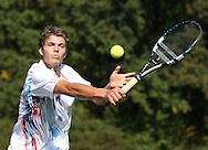 Tennis Profi Peter Heller (GER), Aktion,Einzelbild,.Halbkoerper,Querformat,