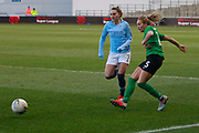 Brighton Womens defender (5) Fern Whelan plays the ball forward during the FA Women's Super League match between Manchester City Women and Brighton and Hove Albion Women at the Sport City Academy Stadium, Manchester, United Kingdom on 27 January 2019.