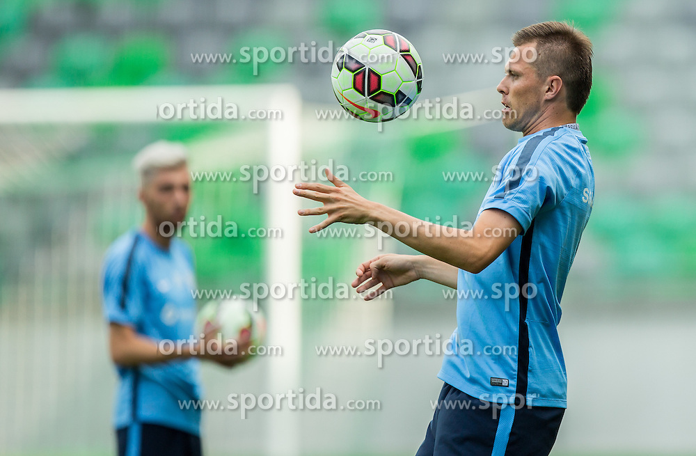 Josip Ilicic during practice session of Slovenian National Football Team before Euro 2016 Qualifications match against England, on June 12, 2015 in SRC Stozice, Ljubljana, Slovenia. Photo by Vid Ponikvar / Sportida