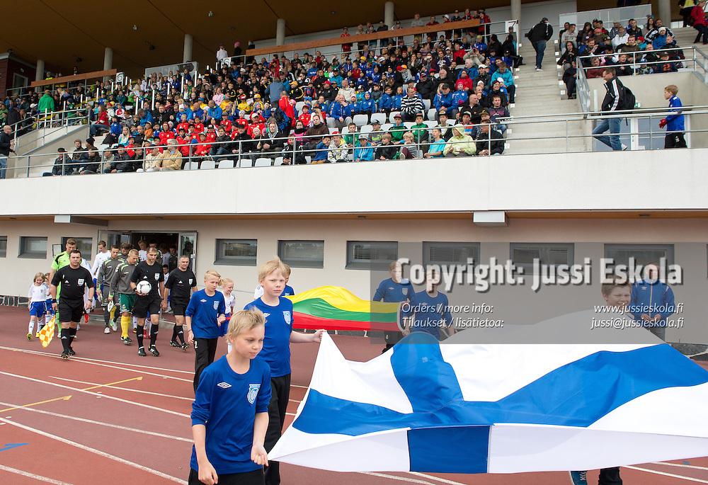 Suomi - Liettua. Alle 21-vuotiaiden maaottelu. EM-karsinta. U21. Oulu, 11.6.2013. Photo: Jussi Eskola