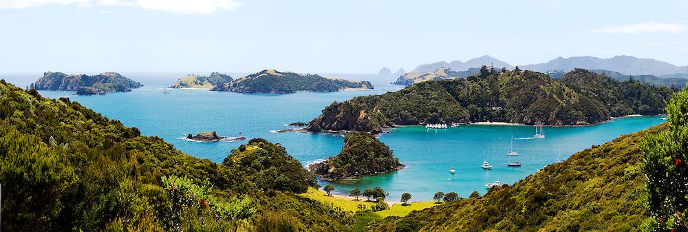 view to Bay of Islands from Motorua Island