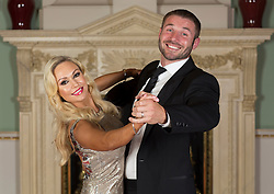 LONDON- UK- 16-SEPT-2014: Kristina Rihanoff and Ben Cohen  at The Dot Com Children&rsquo;s Foundation Strictly Ballroom Fundraising Dinner at the Mansion House in London.<br /> Strictly Come Dancing inspired ball hosted by Anton Du Beke with a showpiece live performance from Strictly Come Dancing&rsquo;s Kristina Rihanoff and her dance partner Ian Waite along with other professional dancers from Strictly &ndash; Aljaz Scorjanec (last year&rsquo;s winning professional), Jannette Manrara, Kevin Clifton and Karen Hauer. The evening was opened by Cherie Blair and her daughter Catherine Blair and also include contributions from Sharon Evans, CEO of the foundation and Kristina Rihanoff, who is a foundation trustee.<br /> Photograph by Ian Jones