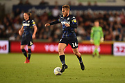Samuel Saiz (14) of Leeds United during the EFL Sky Bet Championship match between Swansea City and Leeds United at the Liberty Stadium, Swansea, Wales on 21 August 2018.