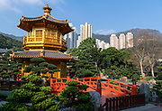 The Golden Pavilion Of Absolute Perfection, Nan Lian Garden in Chi Lin Nunnery, Kowloon, Hong Kong, China.