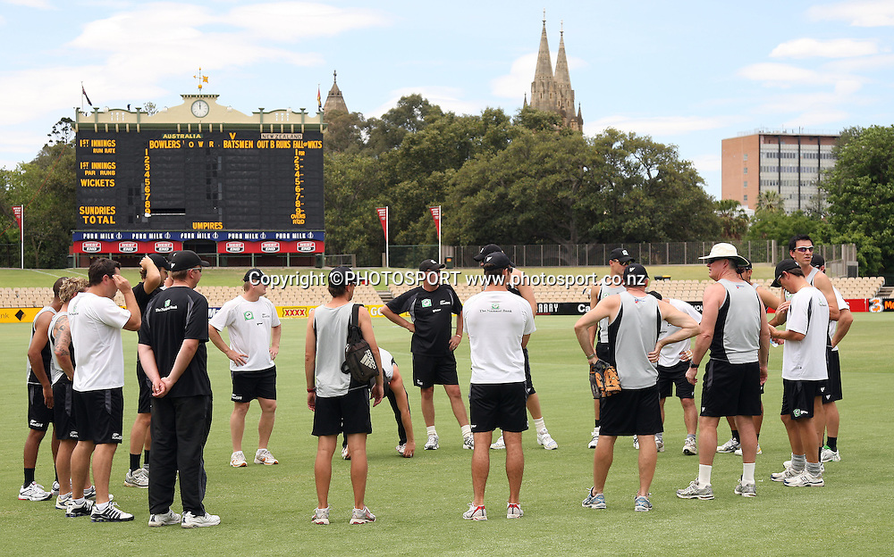 New Zealand team training session and meeting.<br />
