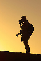 Blaine Harrington shooting at sunset, Moon Valley, Atacama Desert, Chile