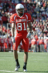 14 October 2006: Laurent Robinson. &#xD;The 6th largest crowd at Hancock Stadium came to watch a game that put 8th ranked Southern Illinois Salukis against 5th ranked Illinois State University Redbirds.  The Redbirds stole the show for a Homecoming win by a score of 37 - 10. Competition commenced at Hancock Stadium on the campus of Illinois State University in Normal Illinois.<br />