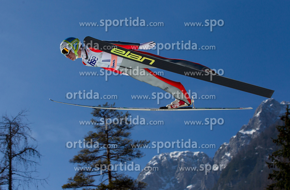 Dejan Judez of Slovenia during Flying Hill Individual Qualifications at 1st day of FIS Ski Jumping World Cup Finals Planica 2012, on March 15, 2012, Planica, Slovenia. (Photo by Vid Ponikvar / Sportida.com)