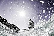 BYRON BAY, AUSTRALIA - SEPTEMBER 9:  Hiroto Arai of Japan surfs at Tallows on September 9, 2010 in Byron Bay, Australia.  (Photo by Matt Roberts/Surfin Life Japan)