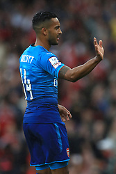 Arsenal's Theo Walcott celebrates scoring his side's first goal of the game during the Emirates Cup match at the Emirates Stadium, London.