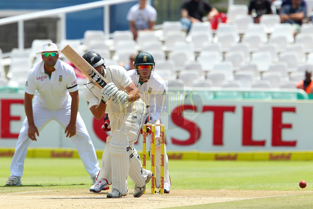 Dean Brownlie during the 3rd day of the 1st Sunfoil Test match between South Africa and New Zealand held at Newlands Stadium in Cape Town, South Africa on the 4th January 2013..Photo by Ron Gaunt/SPORTZPICS .