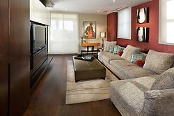 2425 L Street designer Lorne Gross Family room TV room