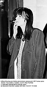 Gillian Wearing just before prizewinner announced. 1997 Turner prize Dinner. Tate Gallery, London. 2/12/97. Film 97659f20<br />© Copyright Photograph by Dafydd Jones<br />66 Stockwell Park Rd. London SW9 0DA<br />Tel 0171 733 0108