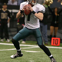 13 January 2007: Philadelphia Eagles quarterback Jeff Garcia looks to pass the ball during a 27-24 win by the New Orleans Saints over the Philadelphia Eagles in the NFC Divisional round playoff game at the Louisiana Superdome in New Orleans, LA. The win advanced the New Orleans Saints to the NFC Championship game for the first time in the franchise's history.