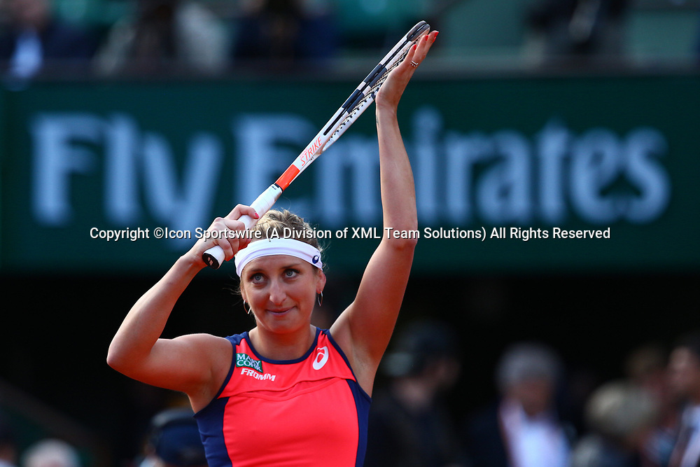 PARIS, FRANCE - JUNE 06:  TIMEA BACSINSZKY (SUI)  during day ten match of the 2017 French Open on June 6, 2017, at Stade Roland-Garros in Paris, France. (Photo by Chaz Niell/ Icon Sportswire)