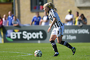 Notts County Ladies defender Alex Greenwood moves forward during the FA Women's Super League match between Chelsea Ladies FC and Notts County Ladies FC at Staines Town FC, Staines, United Kingdom on 6 September 2015. Photo by Mark Davies.