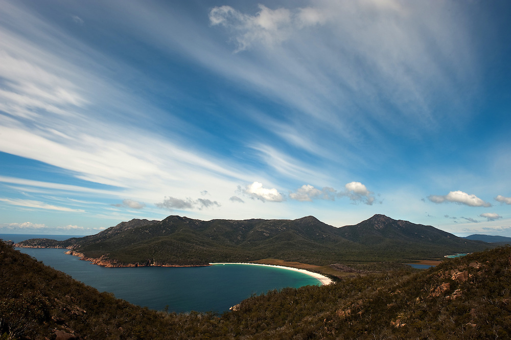 Views of the Freycinet National Park in Tasmania.