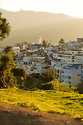 CHEFCHAOUEN, MOROCCO - 27th APRIL 2016 - View of the Chefchaouen Medina - the blue city - Rif Mountains, Northern Morocco.