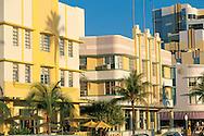 Florida. Art Deco architecture on Ocean Avenue in South Beach, Miami