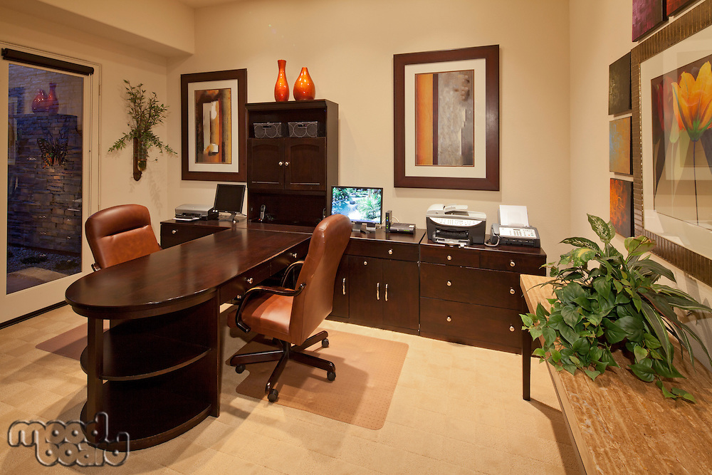 Study room in luxury manor house