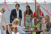 KONSTANTIN VON BISMARCK; SALONI LODHA; CHELSY DAVY, Cartier Queen's Cup. Guards Polo Club, Windsor Great Park. 17 June 2012
