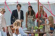 KONSTANTIN VON BISMARCK; SALONI LODHA; CHELSY DAVY, Cartier Queen's Cup. Guards Polo Club, Windsor Great Park. 17 June 2012