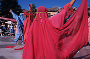 SPAIN / Castile-La Mancha / Toledo province / Consuegra.  Medieval recreations in Spain. Every August the village recreates a battle of 1097 between the Castilian and Leonese army of Alfonso VI and the Almoravids. Moorish dancers.....