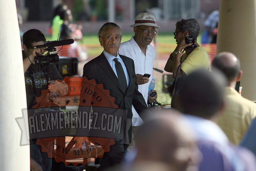 The Reverend Al Sharpton arrives after the death of his mother that morning, to show support during a rally for the shooting of Trayvon Martin on Thursday ,March 22, 2012 at Fort Mellon Park in Sanford, Florida. (AP Photo/Alex Menendez) Trayvon Martin rally in Sanford, Florida.
