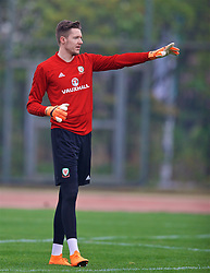 NANNING, CHINA - Sunday, March 25, 2018: Wales' goalkeeper Wayne Hennessey during a training session at the Guangxi Sports Centre ahead of the 2018 Gree China Cup International Football Championship final match against Uruguay. (Pic by David Rawcliffe/Propaganda)