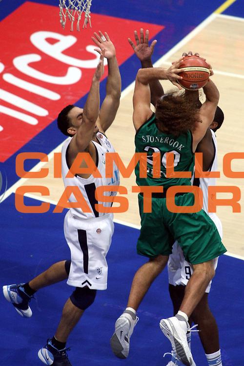DESCRIZIONE : Bologna Lega A1 2006-07 Climamio Fortitudo Bologna Montepaschi Siena <br />GIOCATORE : Stonerook<br />SQUADRA : Montepaschi Siena<br />EVENTO : Campionato Lega A1 2006-2007 <br />GARA : Climamio Fortitudo Bologna Montepaschi Siena <br />DATA : 27/01/2007 <br />CATEGORIA : Tecnica Stoppata<br />SPORT : Pallacanestro <br />AUTORE : Agenzia Ciamillo-Castoria/G.Ciamillo