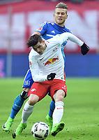 v.l. Marcel Sabitzer, Matthias Ostrzolek (HSV)<br /> <br /> Leipzig, 11.02.2017, Fussball Bundesliga, RB Leipzig - Hamburger SV 0:3<br /> <br /> Norway only