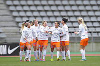 Joie Montpellier  - 20.12.2014 - PSG / Montpellier - 14eme journee de D1<br /> Photo : Andre Ferreira / Icon Sport