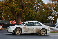 #1 Stephen Simpson / Patrick Walsh Subaru Impreza WRC Bolton-le-Moors Tudor Glassduring Neil Howard Memorial Stage Rally, and opening round of the 2015 Motorsport News Rally Championship.  at Oulton Park, Little Budworth, Cheshire, United Kingdom. November 07 2015. World Copyright Peter Taylor. Copy of publication required for printed pictures.  Every used picture is fee-liable. http://archive.petertaylor-photographic.co.uk