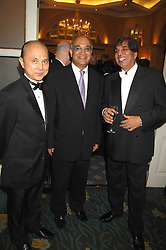 Left to right, JIMMY CHOO, KEITH VAZ MP and DR AVTAR LIT at the Eastern Eye Asian Business Awards 2007 in the presence of HRH The Duke of York at the Hilton Park Lane, London on 8th May 2007.<br />