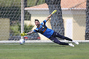Forest Green Rovers goalkeeper Sam Russell(23) during the Forest Green Rovers Training session at Browns Sport and Leisure Club, Vilamoura, Portugal on 25 July 2017. Photo by Shane Healey.