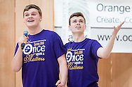 "Town of Wallkill, New York -   Washingtonville High School students sing a song from ""Once Upon A Mattress"" during the Orange County Arts Council's All-County High School Musical Showcase and Arts Display at the Galleria at Crystal Run on Feb. 27, 2016."