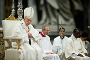 Vatican City apr and 2015, Holy Thursday Chrism Mass in St Peter's Basilica. In the picture pope Francis