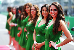 Formel 1: GP von Mexiko 2016 - Rennen in Mexiko-Stadt / 301016<br /> <br /> ***Grid girls on the drivers parade.<br /> 30.10.2016. Formula 1 World Championship, Rd 19, Mexican Grand Prix, Mexico City, Mexico, Race Day.<br /> Copyright: Batchelor / XPB Images / action press ***