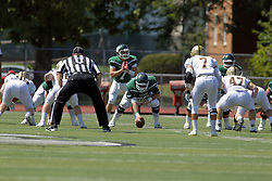 09 September 2017:  Mike Mulcrone, Brandon Bauer during an NCAA division 3 football game between the Nebraska Wesleyan PRAIRIE WOLVES and the Illinois Wesleyan Titans in Tucci Stadium on Wilder Field, Bloomington IL