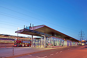 Canning Town Bus Station and DLR interchange in the London Borough of Newham.