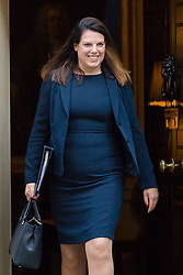 © Licensed to London News Pictures. 09/10/2018. London, UK.  Caroline Nokes,<br /> Minister of State for Immigration leaving Downing Street after a cabinet meeting.  Photo credit: Vickie Flores/LNP