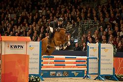 Van Asten Mathijs, NED, Hotspot<br /> Springen Klasse L<br /> KWPN Hengstenkeuring 2017<br /> © Dirk Caremans<br /> 02/02/17