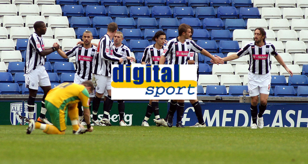 Photo: Mark Stephenson.<br /> West Bromwich Albion v Norwich City. Coca Cola Championship. 27/10/2007.Wesr Brom's Kevin Phillips ( 2ed L ) celebrates his goal and Brom's 2ed with team mates