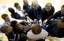 Bozidar Maljkovic, coach of Slovenia talks to journalists during practice session of Slovenia National basketball team at Eurobasket Lithuania 2011, on September 7, 2011, in Mykolo Romeris University,  Vilnius, Lithuania. (Photo by Vid Ponikvar / Sportida)