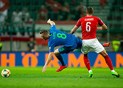 Jasmin Kurtič of Slovenia vs Stefan Ilsanker of Austria during the 2020 UEFA European Championships group G qualifying match between Austria and Slovenia at Wörthersee Stadion on June 7, 2019 in Klagenfurt, Austria. Photo by Vid Ponikvar / Sportida