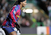 Ronaldinho shows off his cycling shorts. Celtic v Barcelona, Uefa Champions League, Knockout phase, Celtic Park, Glasgow, Scotland. 20th February 2008.