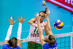 22-08-2017 NED: World Qualifications Slovenia - Bulgaria, Rotterdam<br /> Bulgaria win 3-1 against Slovenia / Elitsa Vasileva #16 of Bulgaria<br /> Photo by Ronald Hoogendoorn / Sportida