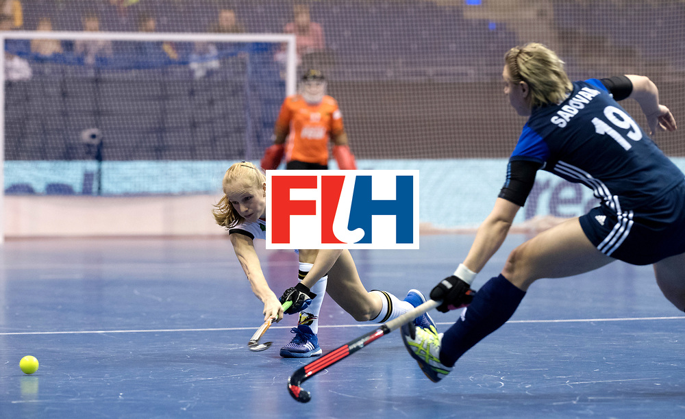 BERLIN - Indoor Hockey World Cup<br /> Women: Germany - Russia<br /> foto: SCHLENKER Friderike.<br /> WORLDSPORTPICS COPYRIGHT FRANK UIJLENBROEK